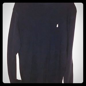 Polo Thermal Top in Navy Blue sz Medium
